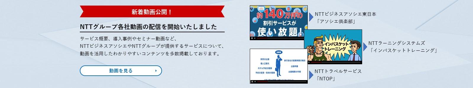サービス概要、導入事例やセミナー動画など NTTビジネスアソシエ、NTTグループが提供するサービスについて、 動画を活用したわかりやすいコンテンツを多数掲載しております。詳しく見る